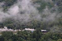 山肌に雲が絡む里山- 2019年初秋・秩父鉄道 - - ねこの撮った汽車