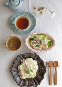 鮭のクリームパスタ - 陶器通販・益子焼 雑貨手作り陶器のサイトショップ 木のねのブログ