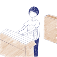 片付け日 - たなかきょおこ-旅する絵描きの絵日記/Kyoko Tanaka Illustrated Diary