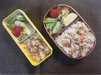 鶏肉とアスパラの炒め物 - 庶民のショボい弁当