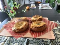 ポルチーニ茸のグラタンブレッドレッスン - カフェ気分なパン教室  *・゜゚・*ローズのマリ