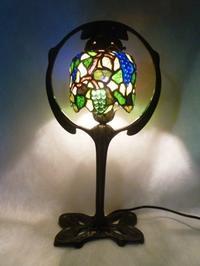 葡萄のランプと絵付けパネル - atelier GLADYS  ステンドグラス工房 作り手の日々