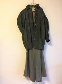 YSL rivegauche Suede coat - carboots