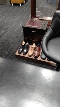 久しぶりの工房 - 玉川タカシマヤ靴磨き工房 本館4階紳士靴売場