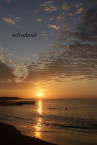 朝陽と雲*サザンビーチ。 - MIRU'S PHOTO