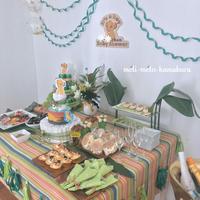 ◆グリーン×ゴールドで、シンバがテーマのベビーシャワー♡ - フランス雑貨とデコパージュ&ギフトラッピング教室 『meli-melo鎌倉』