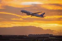 秋冬の夕焼けシーズン - K's Airplane Photo Life