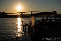 渡船場の夕暮れ - one day, one photo