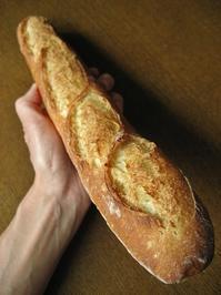 甘い香り、米粉入りバゲット - slow life,bread life