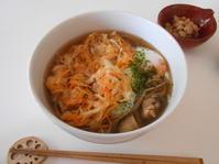 野菜のかき揚げ蕎麦とオーケーストア開店 - のび丸亭の「奥様ごはんですよ」日本ワインと日々の料理