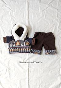 この秋冬お初のダッフィー服 - 子ども服と大人服 KONO'N