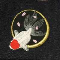 夜桜金魚ϵ( 'Θ' )϶ - ソライロ刺繍