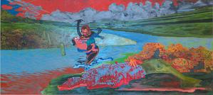 """『河が泣いている、森が泣いている、そして母なる大地が…』  ウィットニー・ビエンナーレで """"Uh Oh, Look Who Got Wet""""『うわわわわぁ、この濡れたひとを見て!』を見た - NY多層金魚 2 = Conceptual Blog Kingyo"""