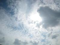 青空とウロコ雲と怪しい雲10/3 - つくしんぼ日記 ~徒然編~