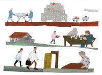 挿し絵の仕事新聞連載「未踏の老いを生きる08」 - yuki kitazumi  blog