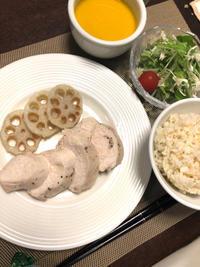 茹で鶏 - 庶民のショボい食卓