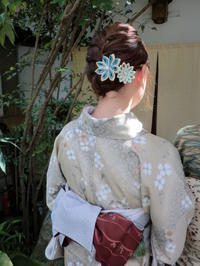 秋晴れにお着物で。 - 京都嵐山 着物レンタル「遊月」・・・徒然日記