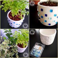 『植木鉢をリメイクしてみたよ』の巻 - 埼玉カルトナージュ教室 ~ La fraise blanche ~ ラ・フレーズ・ブロンシュ