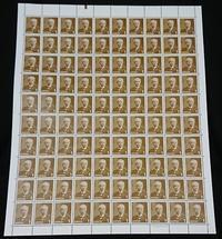 1円切手をシート買いしても100円 - ムッチャンの絵手紙日記