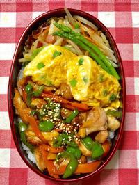 照り焼きチキン丼★(^^♪・・・・・息子弁当 - 日だまりカフェ