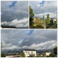 今朝の虹! - きいろいポケット