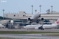 フェアウェルフライト那覇空港から最後の離陸B737日本トランスオーシャン航空(NU) - 飛行機の虜