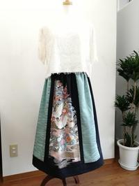 着物リメイクスカート - slow着物のブログ