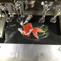 金魚刺繍のオーダー(^^) - ソライロ刺繍