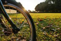日の出と自転車 - 『私のデジタル写真眼』