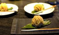 「丸の内HIGASHIYA man 丸の内節季餅「栗やま」、栗汁粉」 - じぶん日記