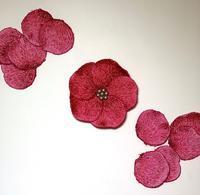 立体刺繍のボカシのお花に挑戦中♡ - Atelier Chou