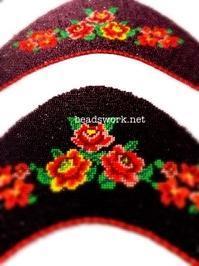 プラナカンビーズ刺繍サンダル刺繍 - プラナカンビーズ刺繍  ビーズワークと旅