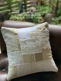 antique linen and lace patch work cushion - Little Lily Hand Works