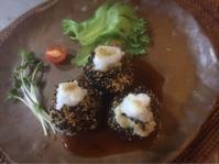 里芋の胡麻団子葛餡掛け - ナチュラル キッチン せさみ & ヒーリングルーム セサミ