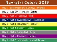 ナヴ・ラートリー(九夜祭)の色 - Blue Lotus