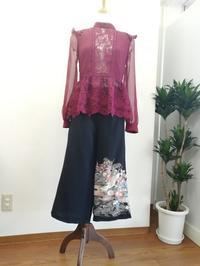 留袖リメイクパンツ - slow着物のブログ
