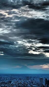 夕暮れ時曇天の富士山 - 風の香に誘われて 風景のふぉと缶