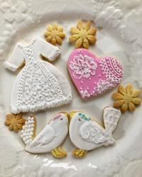 ウェディングアイシングクッキー - 調布の小さな手作りお菓子教室 アトリエタルトタタン