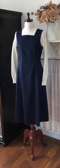 """ジャンパースカート『スクエアN』 - いつかリリアン・ギッシュのように…""""Mrs.GRACE""""のアトリエ便り"""