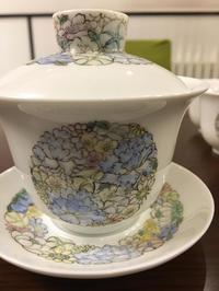 花柄の蓋碗と茶杯の焼き上がり - 桃的美しき日々 [在中国無錫]
