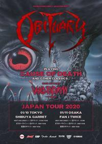 Obituaryの来日公演が2020年の1月に東京/大阪で決定 - 帰ってきた、モンクアル?