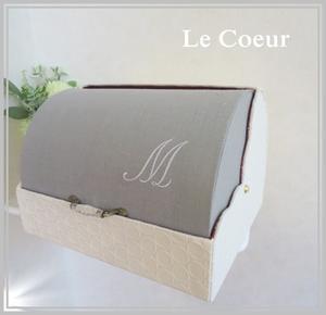 自宅レッスン ブレッドケース(大)シャルニエの箱 ダストBOX - Le Coeur ~カルトナージュ作品と手作り日記~