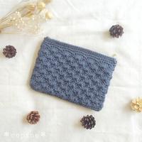 *松編み模様入りポーチ* - *編み物のある生活 tsukurimono*