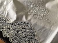 コットンアッパーシーツ603,604 ピローケース2枚付き.sold out! - スペイン・バルセロナ・アンティーク gyu's shop