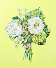 bouquet - ちぎり絵日記