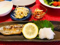 秋刀魚の塩焼きと茄子と赤Pまんの味噌炒め! - ワタシの呑日記