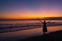 片瀬海岸西浜からのマジックアワー - エーデルワイスPhoto
