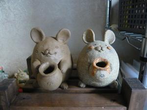 干支のねずみやロボット兵 - あんにゅいん 陶芸猫さん