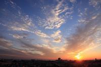 夕陽と二重雲(巻雲) - 日々の風景