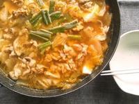 キムチチゲ風の鍋 - Minha Praia